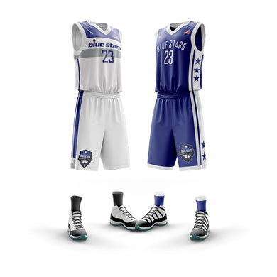 4th-6th Grade Hamilton Blue Stars Jersey Set