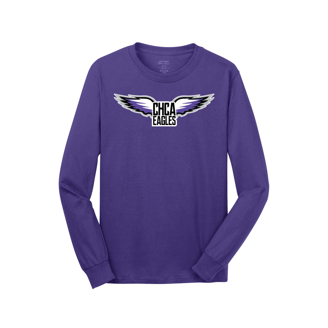 CHCA Basketball LS Tee (Purple)