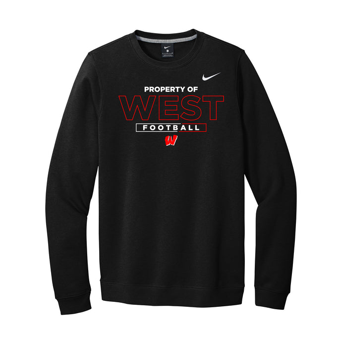 Lakota West Football - Nike Club Fleece Crew