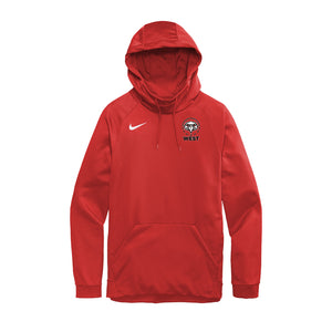 Lakota West Boys Basketball 2020 - Nike Therma-FIT Pullover Fleece Hoodie (Red)