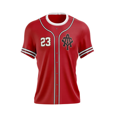 At The Yard Full Sublimated Jersey (Cardinal Full Button)