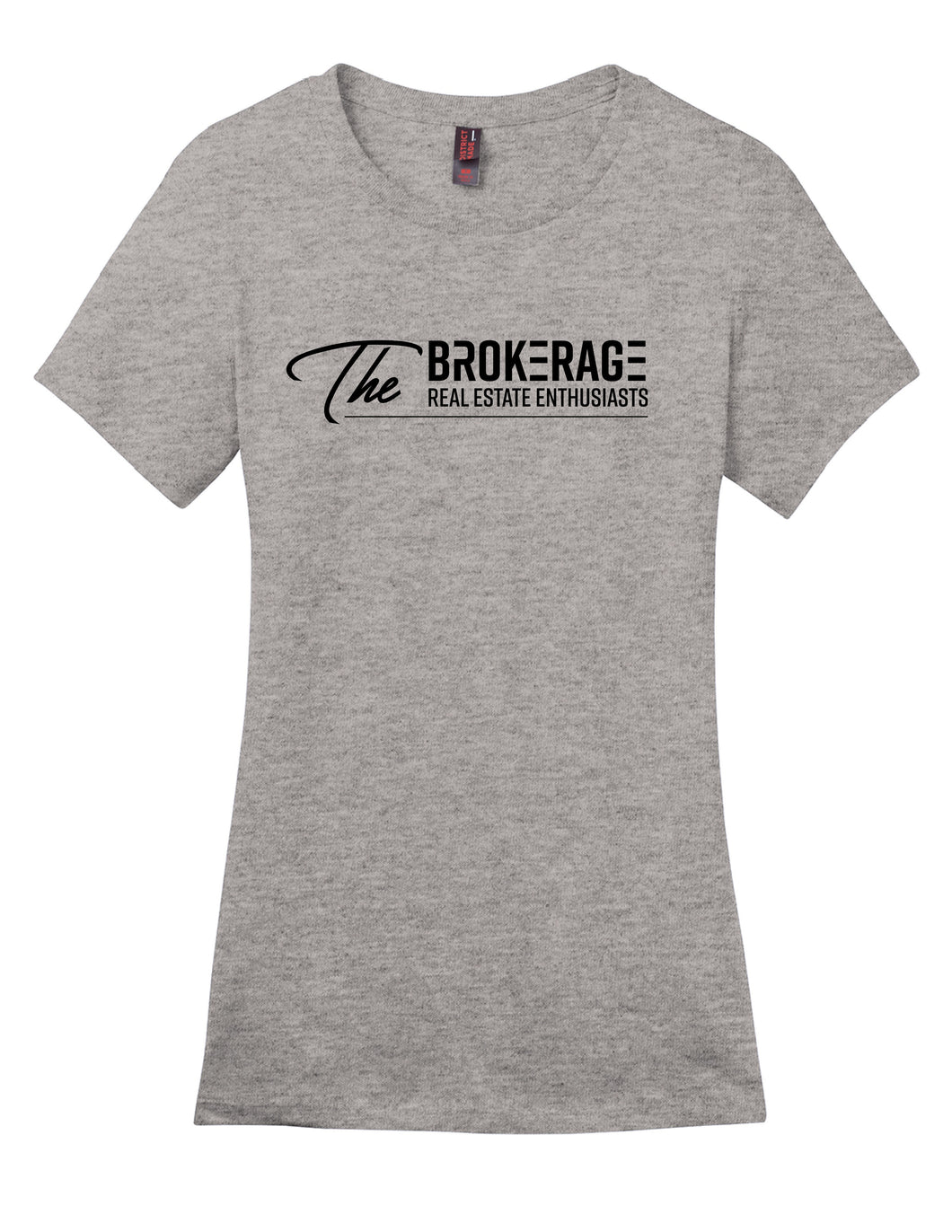 The Brokerage - Women's Perfect Weight Tee (Heathered Steel)