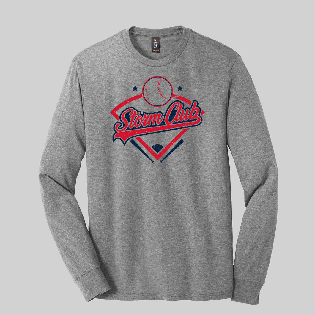 Storm Club Baseball Triblend LS Tee
