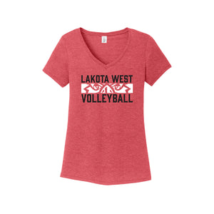 Lakota West Boys Volleyball 2021 - Women's Perfect Tri V-Neck Tee (Red Frost)
