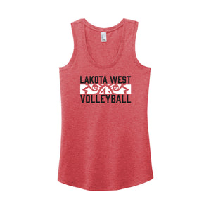 Lakota West Boys Volleyball 2021 - Women's Perfect Tri Racerback Tank (Red Frost)