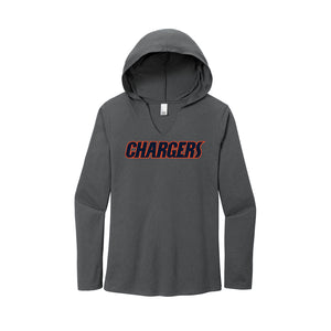 Brokerage Chargers - Women's Perfect Tri Long Sleeve Hoodie (Charcoal)