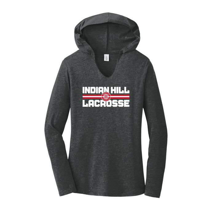 Indian Hill Lacrosse 2021 - Women's Perfect Tri Long Sleeve Hoodie (Black Frost)