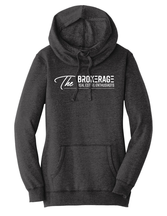 The Brokerage - Women's Lightweight Fleece Hoodie (Heathered Black)