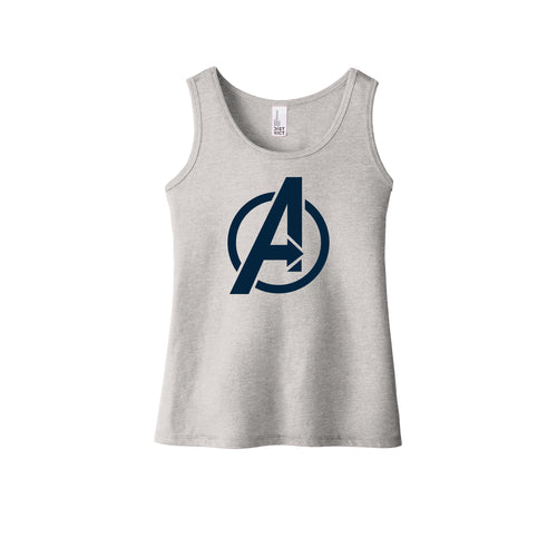 Avengers Baseball Youth Girls Tank (Light Grey)