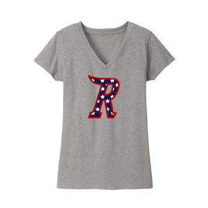 Cincinnati Riverbats - Women's Re-Tee V-Neck (Red White Blue R)
