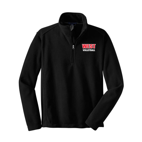 West Boys Volleyball Fleece 1/4 Zip (Black)
