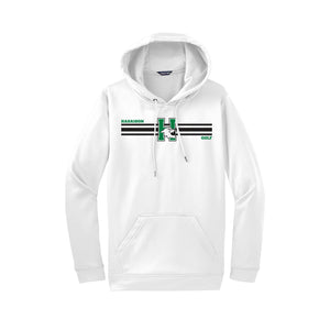 Harrison Golf - Dri Fit Hoodie/Stripe - White