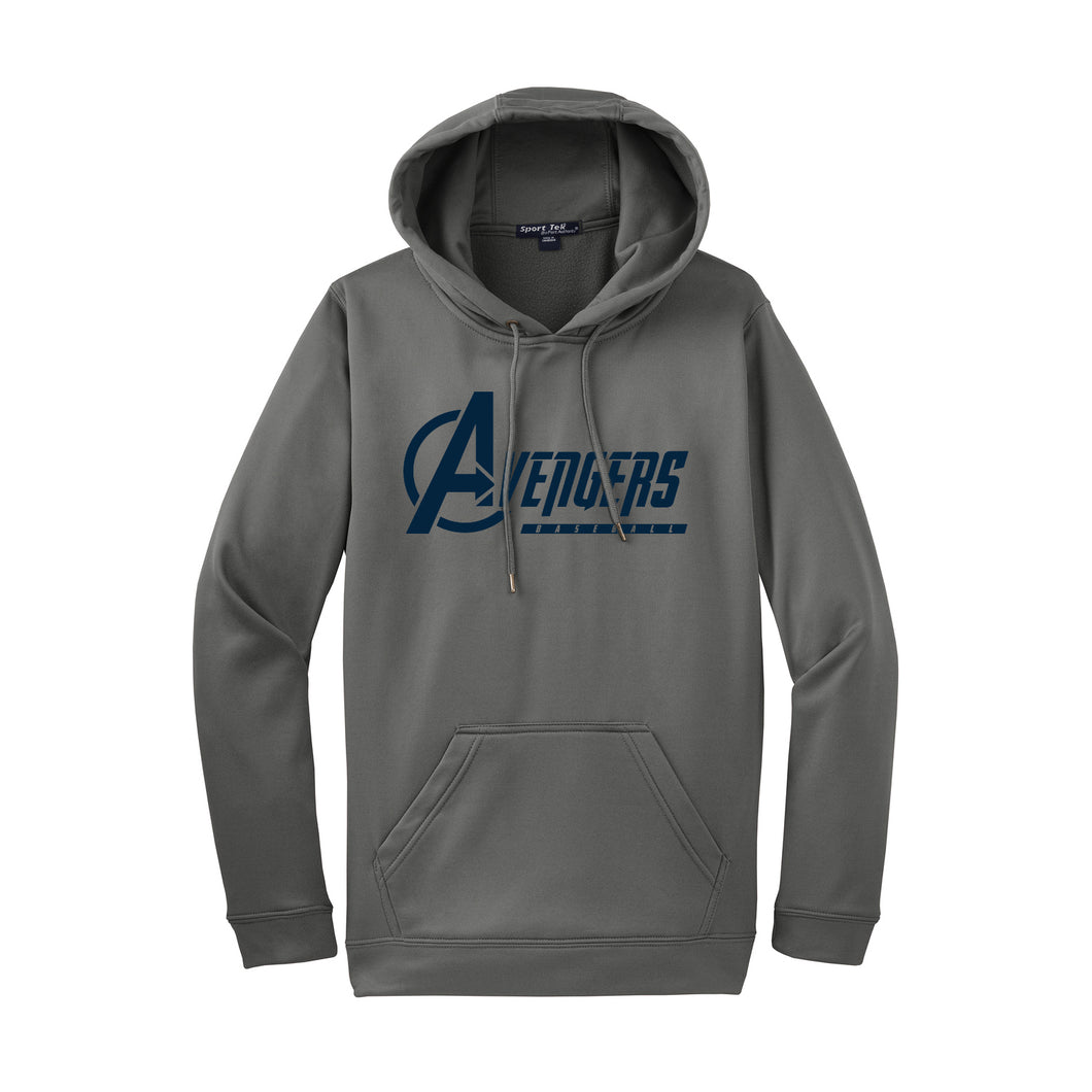 Avengers Baseball Hoodie (Dark Smoke Grey)