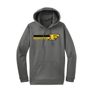5 Star Baseball - Fleece Hooded Pullover (Dark Smoke Grey)
