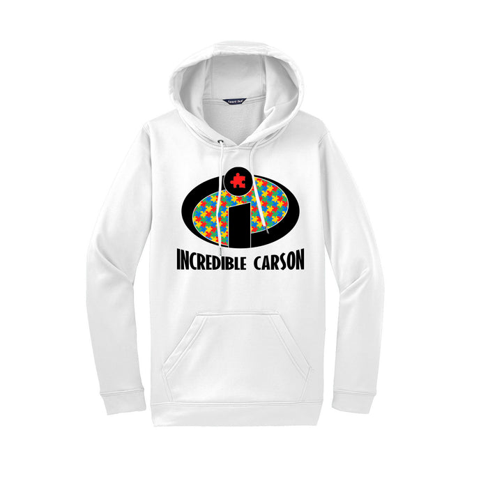 Incredible Carson 2021 - Sport-Wick Fleece Hooded Pullover (White)