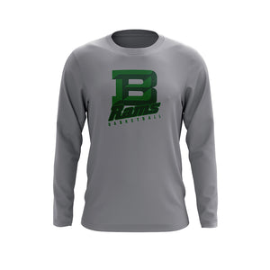 Badin B Basketball Long Sleeve Tee