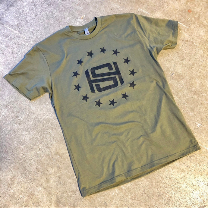 Headlines Strength - Military Green Valor Tee
