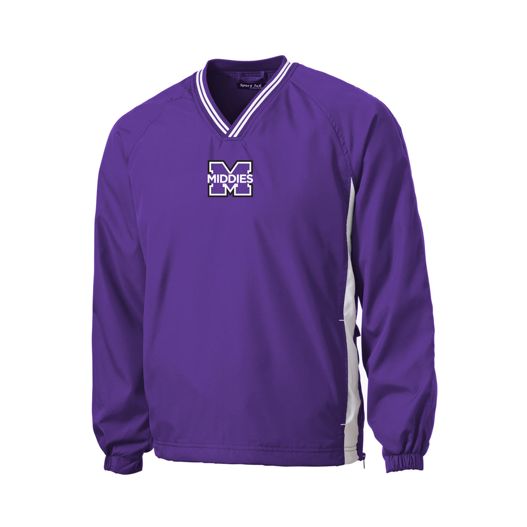Middletown Athletics - V-Neck Raglan Wind Shirt (Purple)