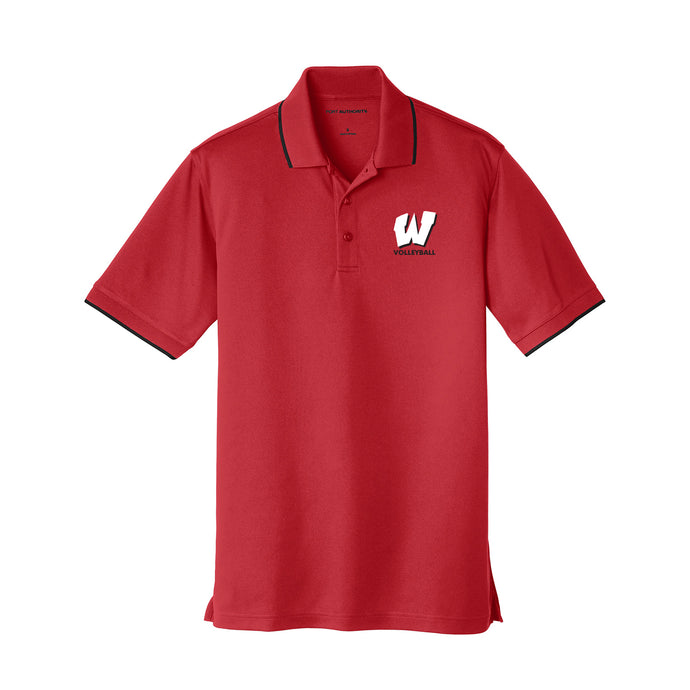 Lakota West Boys Volleyball 2021 - Dry Zone UV Micro-Mesh Tipped Polo (Red)