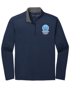 Fairborn Basketball - Silk Touch ™ Performance 1/4-Zip (Navy/Steel Grey)