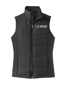 The Brokerage - Ladies Puffy Vest (Black)