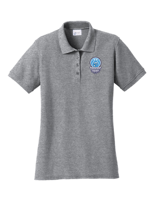 Fairborn Basketball - Ladies Core Blend Pique Polo (Athletic Heather)