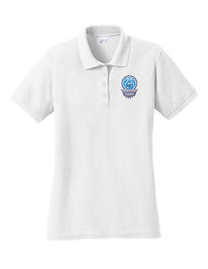 Fairborn Basketball - Ladies Core Blend Pique Polo (White)