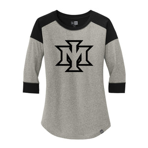 Ironmen Midwest New Era Ladies Heritage Blend 3/4-Sleeve Baseball Raglan Tee