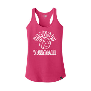 Oakwood Volleyball New Era Ladies Racerback (Deep Pink)