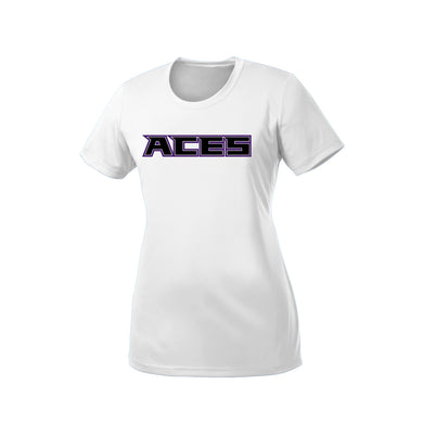 Aces Softball - Ladies Dri Fit Tee (White)