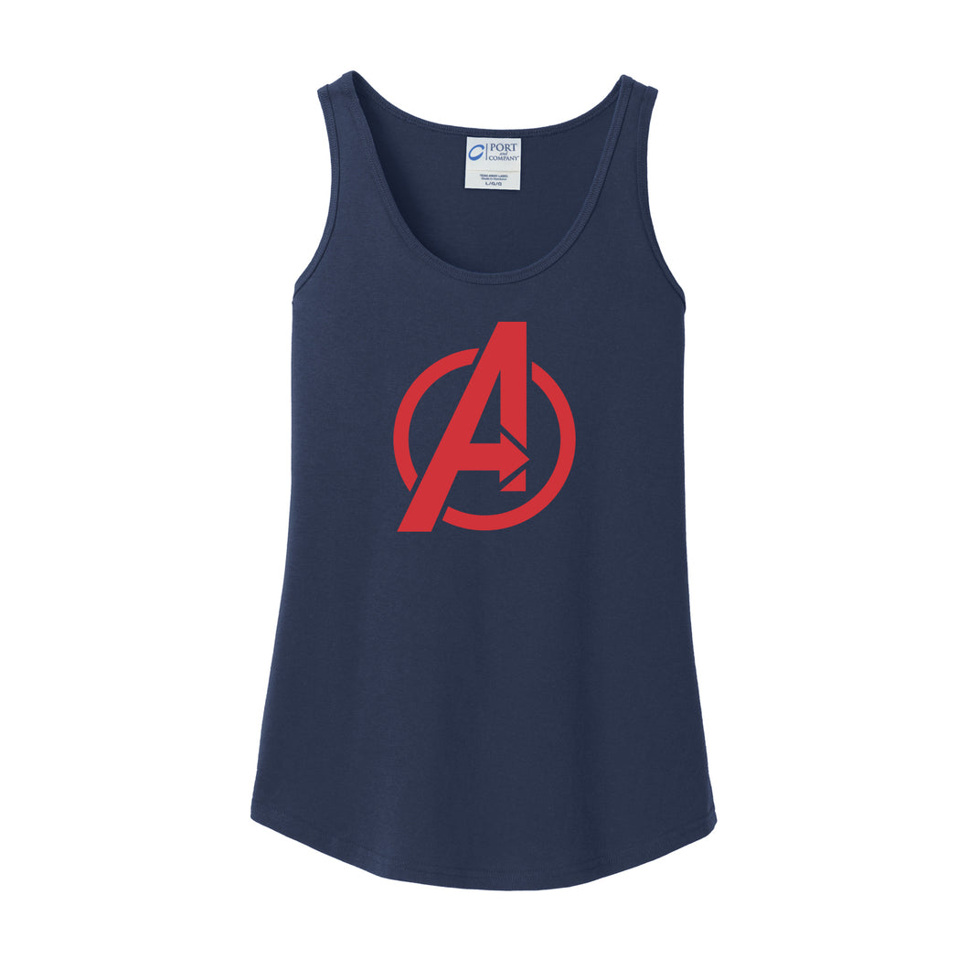 Avengers Baseball Ladies Tank (Navy)
