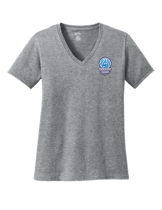 Fairborn Basketball - Ladies V-Neck Tee (Athletic Heather)