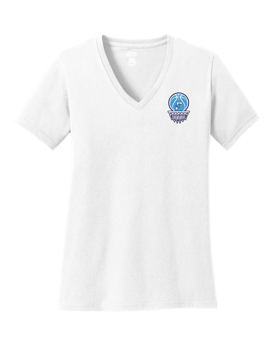 Fairborn Basketball - Ladies V-Neck Tee (White)