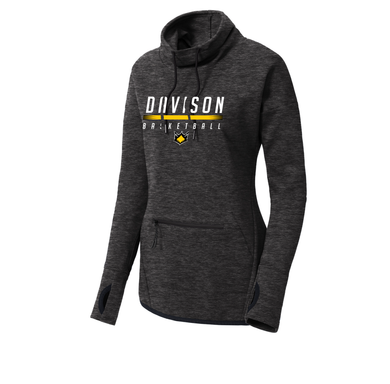 Davison Basketball - Ladies Triumph Cowl Neck Pullover (Black Heather)
