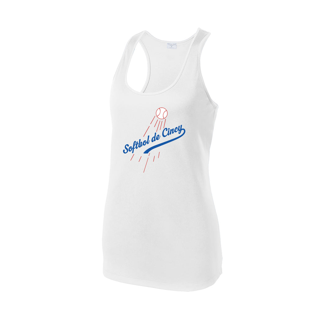 CSB - Softbol de Cincy Racerback Tank (White)