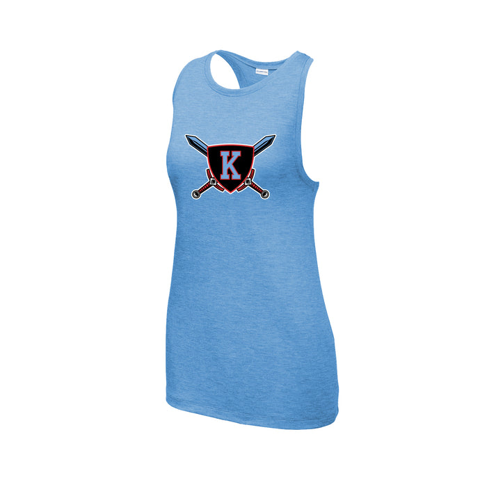 Kings Youth Football - Ladies Tri-Blend Wicking Tank (Glitter Option Inside!)