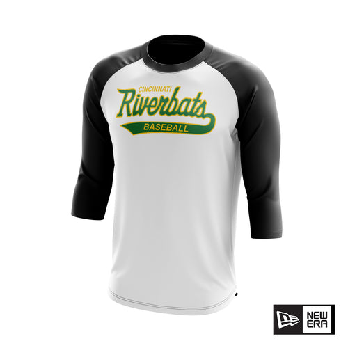 Cincinnati Riverbats New Era Raglan Tee