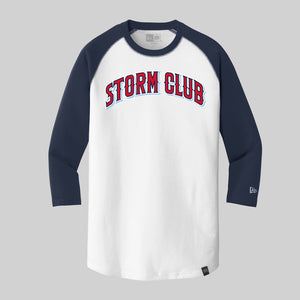 Storm Club Baseball New Era 3/4 Sleeve Raglan Tee