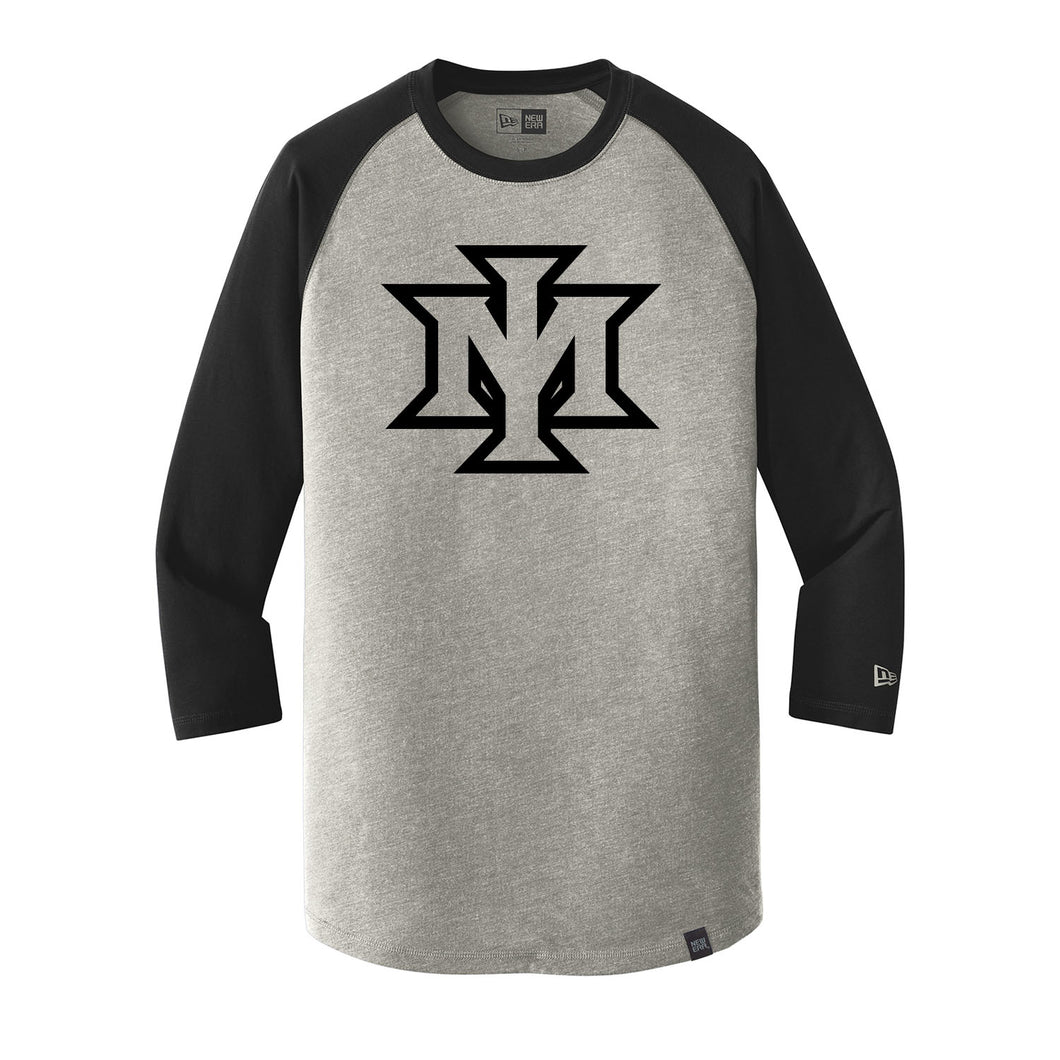 Ironmen Midwest New Era Heritage Blend 3/4-Sleeve Baseball Raglan Tee