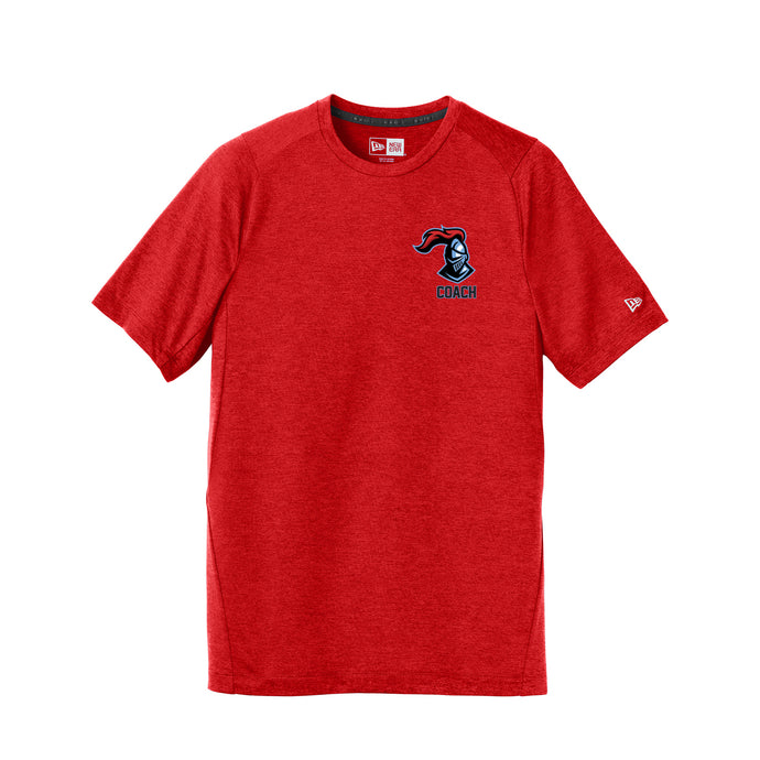 Kings Youth Football Coaches - New Era Series Performance Crew Tee (Red)