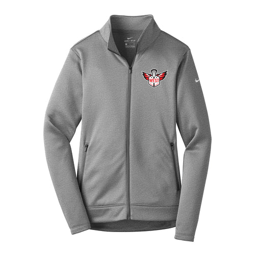West Lacrosse Nike Ladies Therma-FIT Full Zip Fleece (Grey)