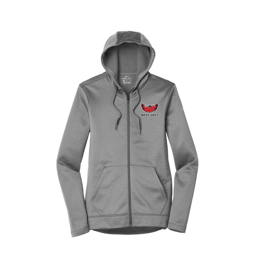 Lakota West Golf - Nike Ladies Therma-FIT Full-Zip Fleece Hoodie