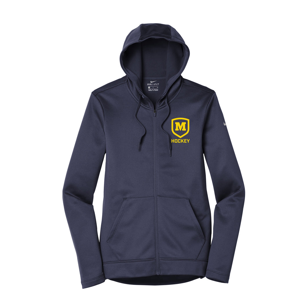 Moeller Hockey - Nike Ladies Therma-FIT Full Zip Fleece Hoody (Midnight Navy)
