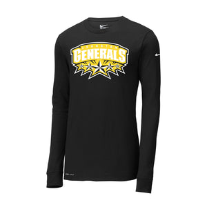 Johnston Generals Nike Dri-FIT Cotton/Poly LS Tee
