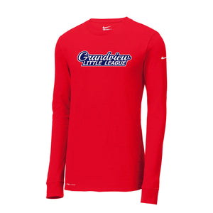 Grandview Little League Nike Dri-FIT Cotton/Poly LS Tee (Red)