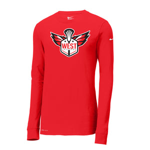 West Lacrosse Nike Dri-FIT LS Tee (Red)