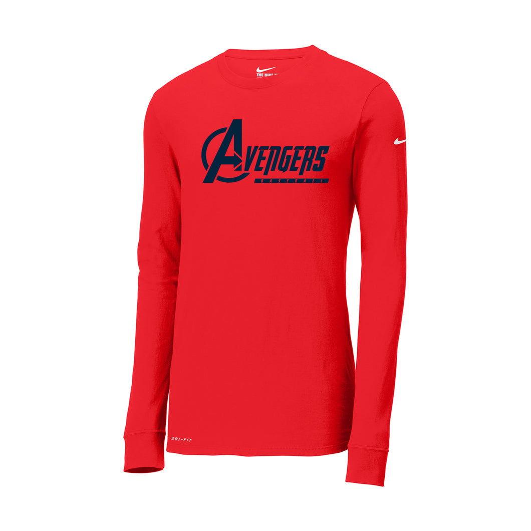 Avengers Baseball Nike Dri-FIT LS Tee (Red)