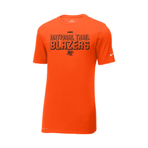 National Trail Athletics - Nike Dri-FIT Cotton/Poly Tee (Brilliant Orange)