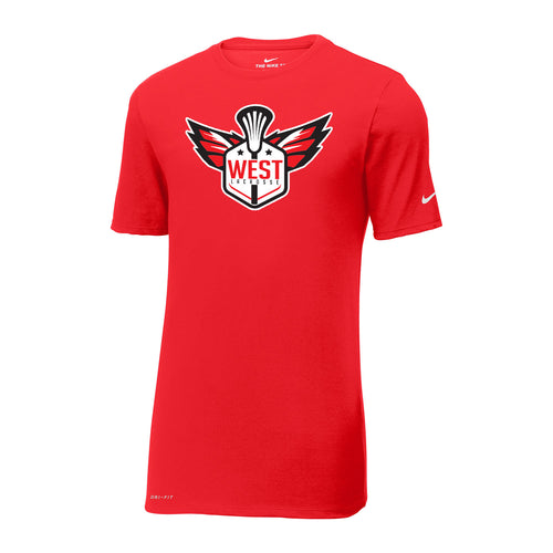 West Lacrosse Nike Dri-FIT SS Tee (Red)