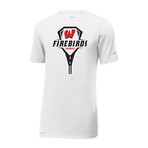 West Lacrosse Nike Dri-FIT SS Tee (White)